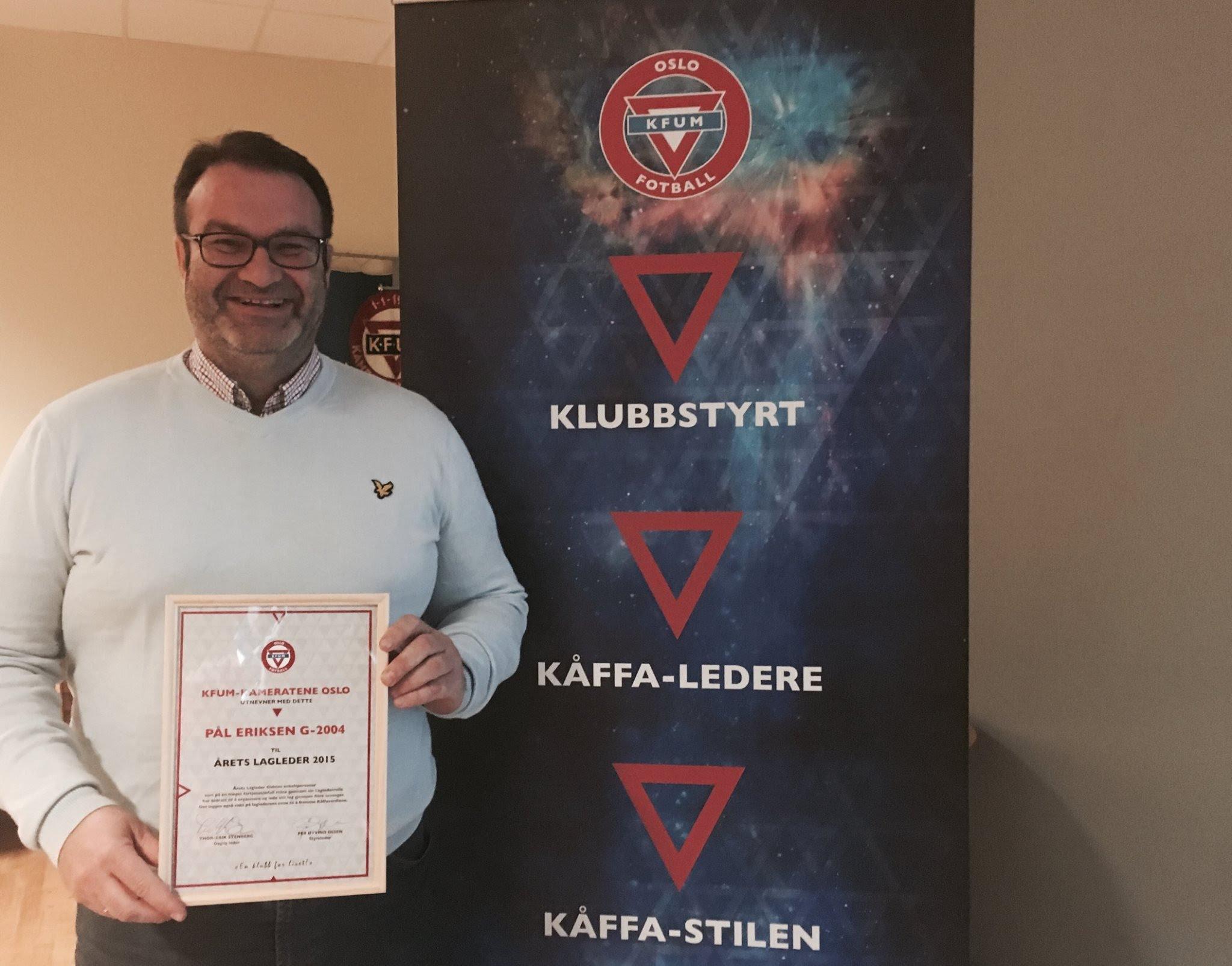 Årets lagleder - Pål Eriksen